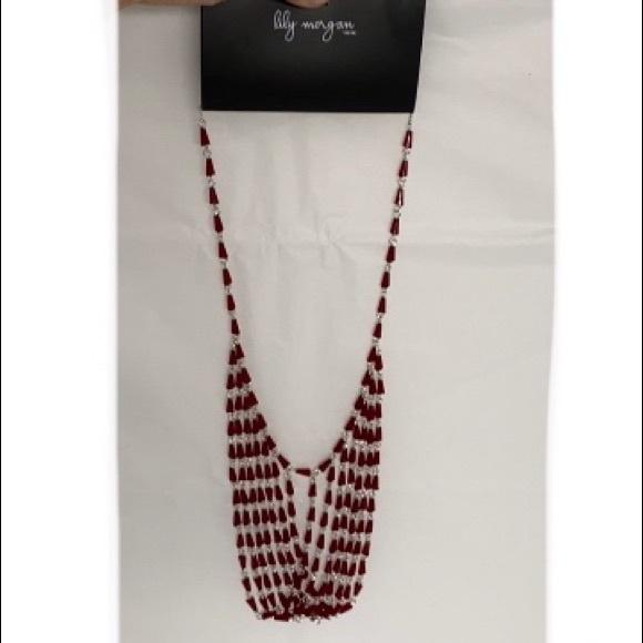 🌸2/$20🌸 Red Lucite Bib Necklace